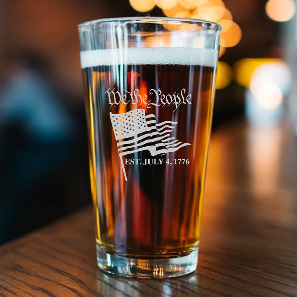 Pint Glass - We the People Flag