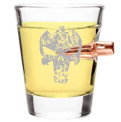 .308 Bullet Shot Glass – Punisher