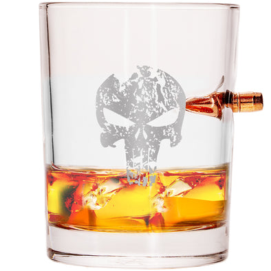 .308 Bullet Whiskey Glass – Punisher