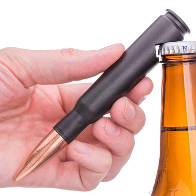 .50 Caliber Bullet Bottle Opener in Matte Black
