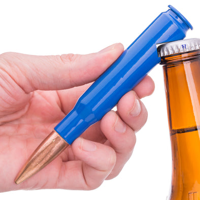 .50 Caliber Bullet Bottle Opener in Blue