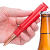 .50 Caliber Bullet Bottle Opener in Red