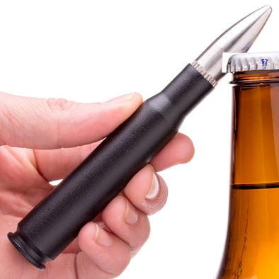 ".50 Caliber Bullet Bottle Opener ""The Shark"" in Black"