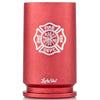 30MM A-10 Warthog Shell Shot Glass with Firefighter Emblem in Red