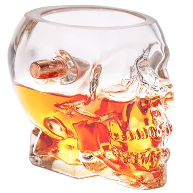 Headshot Shot Glass - Embedded with a Real .308 Bullet
