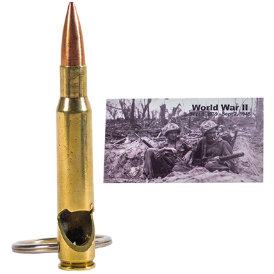 Special Edition WWII Era .30-06 Bullet Bottle Opener Keychain