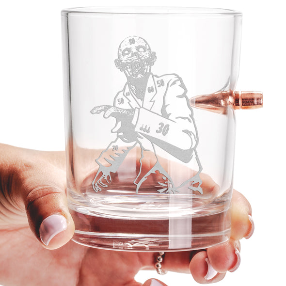 .308 Bullet Whiskey Glass - Zombie Target