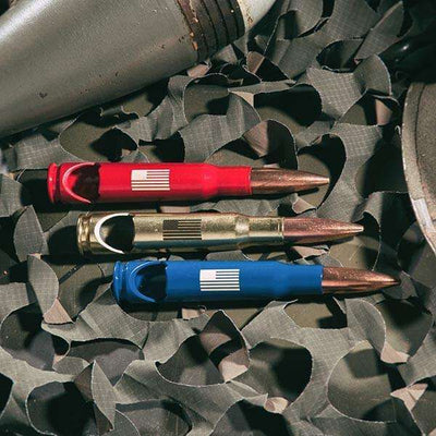 American Flag 50 Caliber Bottle Opener