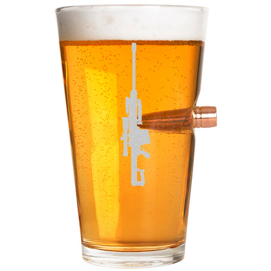 .50 Caliber Bullet Pint Glass - Guns