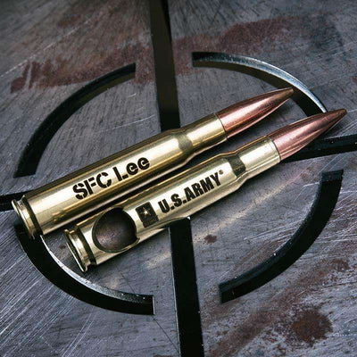 Brass US Army 50 Caliber Bottle Opener