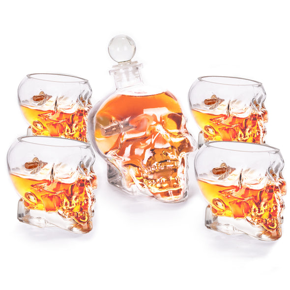 Headshot Decanter Glass Set - Embedded with Real Bullets