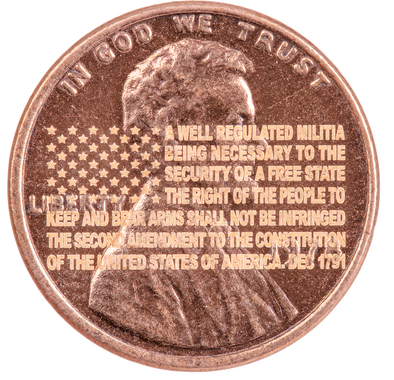 Engraved 2nd Amendment Penny Plus Pocket 2nd Amendment