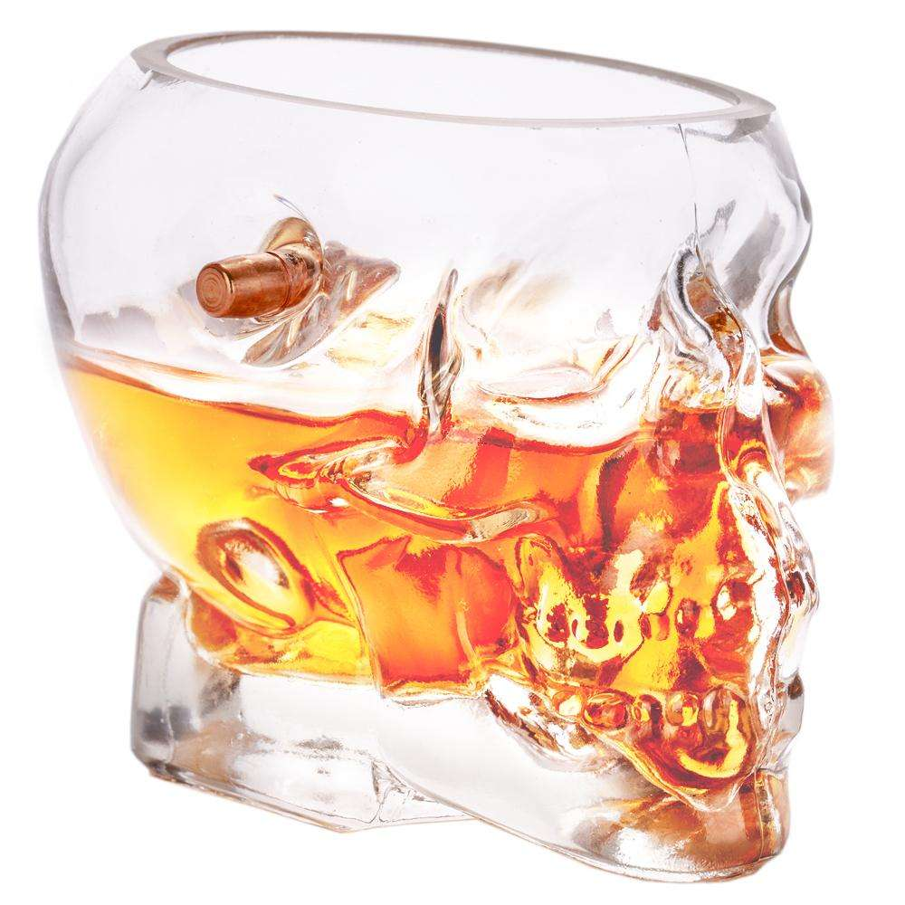 Image of Headshot Whiskey Glass - Embedded with a Real .308 Bullet