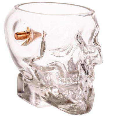 Headshot Whiskey Glass - Embedded With A Real .308 Bullet