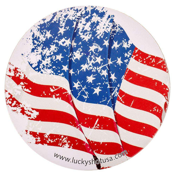 Lucky Shot USA Flag Coaster (Set of 4)