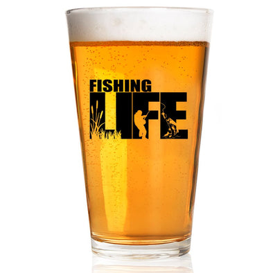 Pint Glass - Fishing Life Silhouette