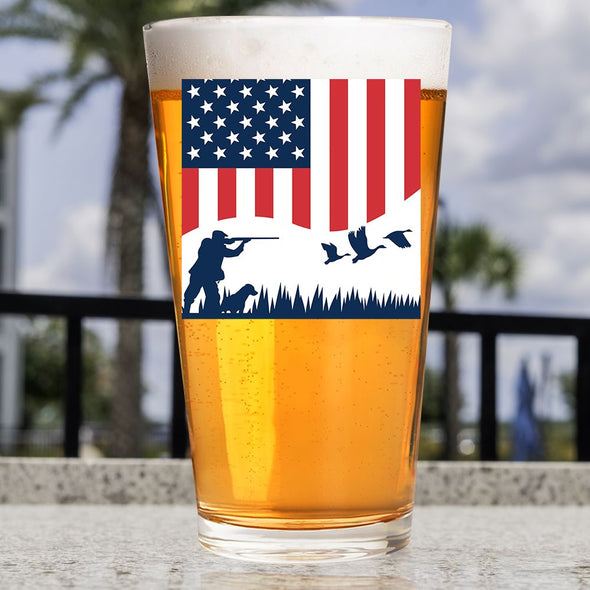 Pint Glass - Duck Hunting Flag