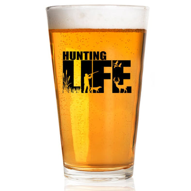 Pint Glass - Hunting Life Silhouette