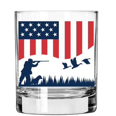Whiskey Glass - Duck Hunting Flag