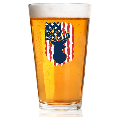 Pint Glass - Deer Flag