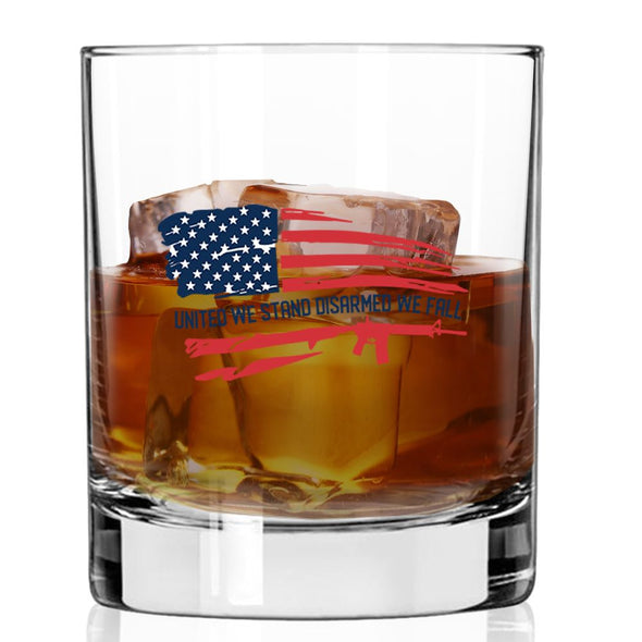 Whiskey Glass - United We Stand Disarmed We Fall