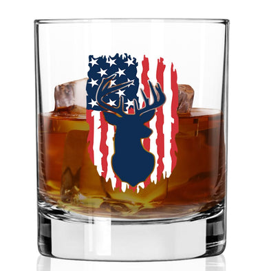 Whiskey Glass - Deer Flag