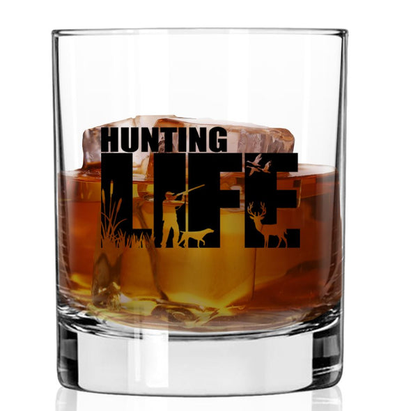 Whiskey Glass - Hunting Life Silhouette