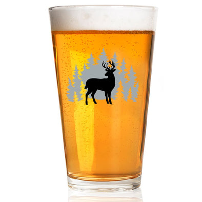 Pint Glass - Deer Scene