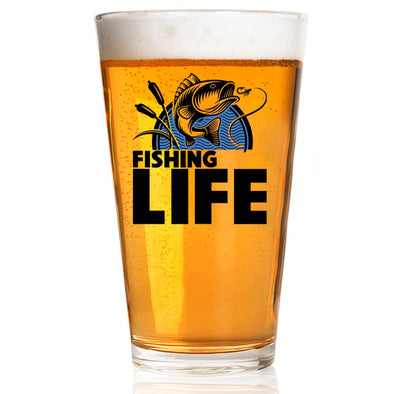 Pint Glass - Fishing Life Jumping Fish
