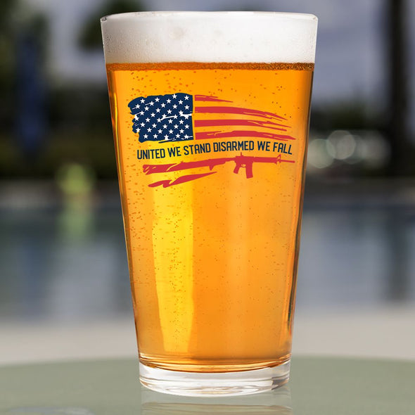 Pint Glass - United We Stand Disarmed We Fall