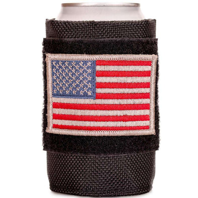 Tactical Velcro Drink Sleeve W/ 2 Embroidered Patches Promotion