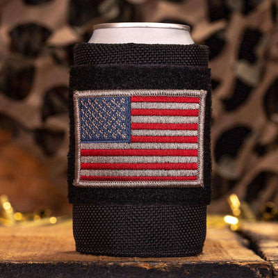 Tactical Velcro Drink Sleeve W/ 2 Embroidered Patches