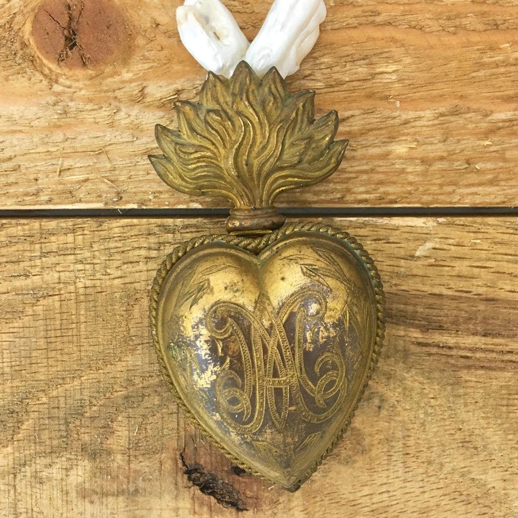Antique french sacred heart ex voto c1880 and baroque pearls antique french sacred heart ex voto c1880 and baroque pearls aloadofball Images