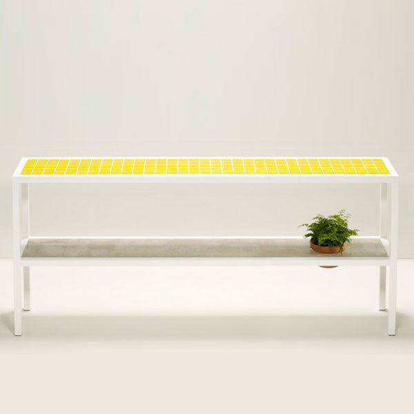 Tiled Console Table ~ Temperature tiled console table design