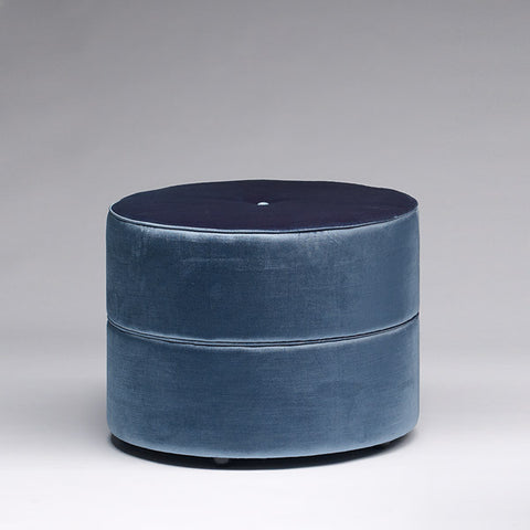 Temperature Round Ottoman - Piped
