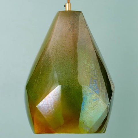 Lyngard Facet Lustered Pendant - Woodland