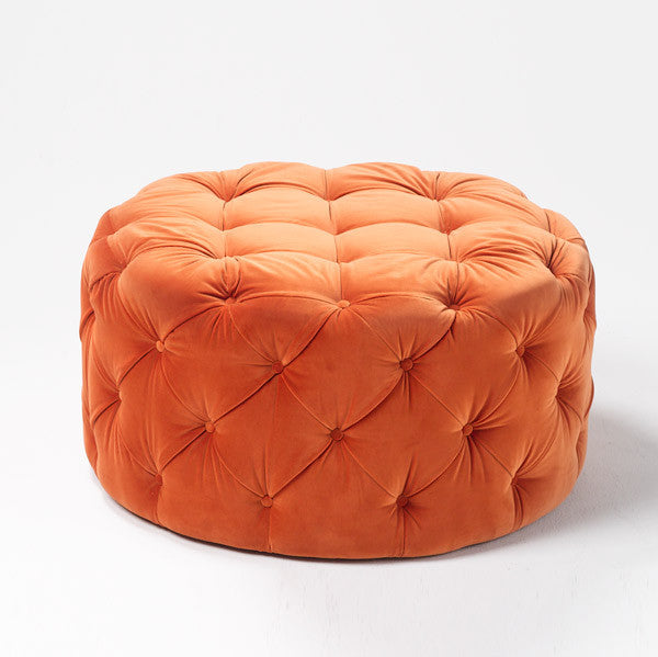 Temperature chester ottoman round temperature design for Sofa stool design