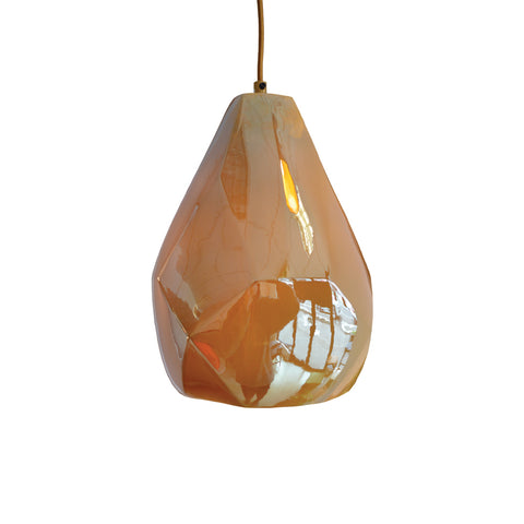 Lyngard Facet Lustered Pendant - Gold