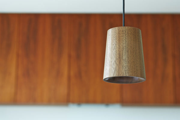 Tw Solid Pendant Cone Walnut Temperature Design