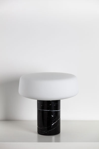 Tw Solid Table Lamp Nero Marquina Temperature Design