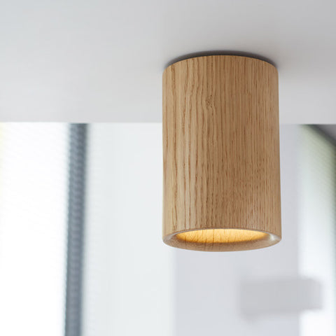 TW Solid Downlight Cylinder - Oak