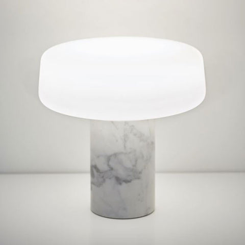 TW Solid Table Lamp - Carrara Marble