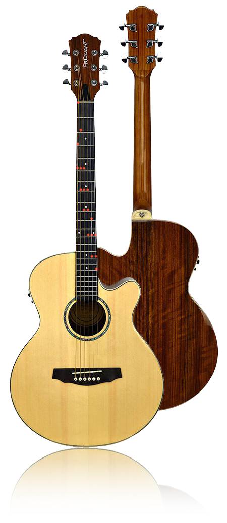fg 629 wireless acoustic electric guitar the fretlight guitar store. Black Bedroom Furniture Sets. Home Design Ideas