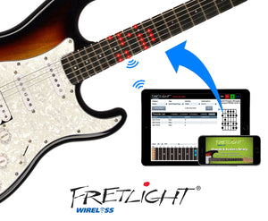 FG-611T Beginner Wireless Electric Guitar - The Fretlight Guitar Store