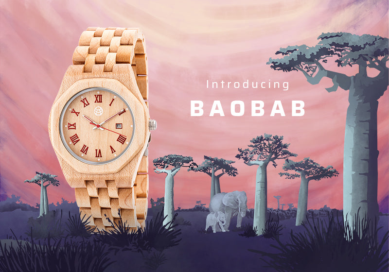 Earth Wood Baobab Watches