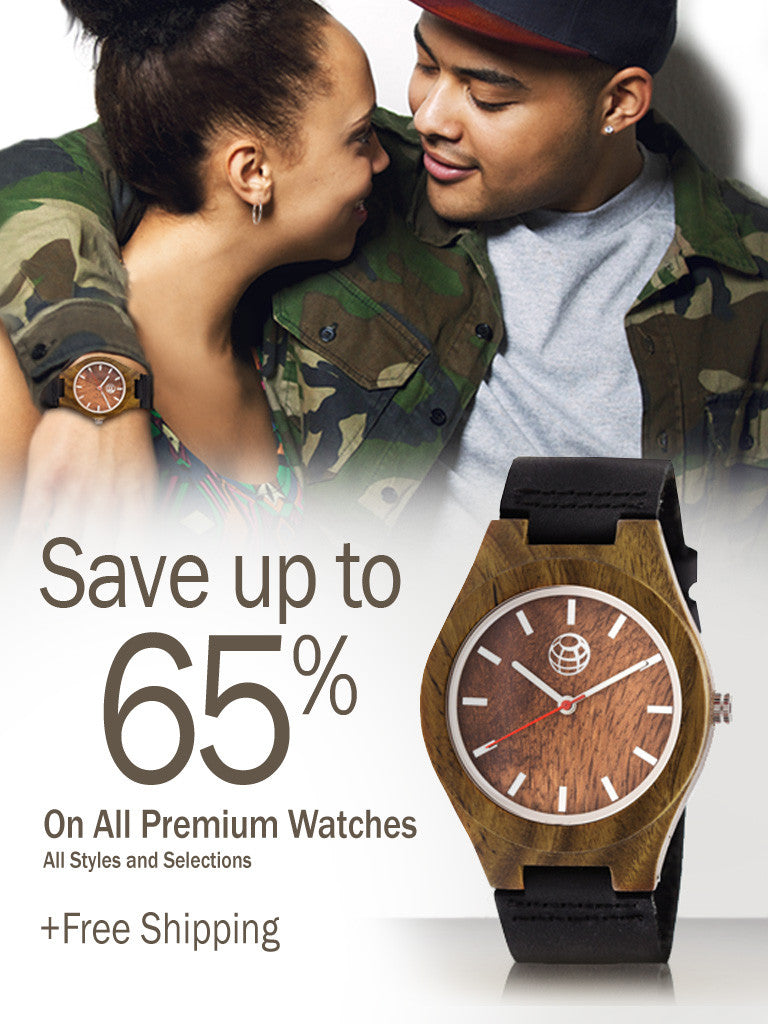 Wood Watches- save up to 65%