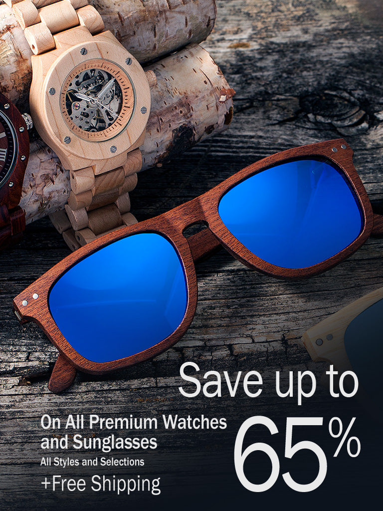 Earth Wood Sunglasses- save up to 65%