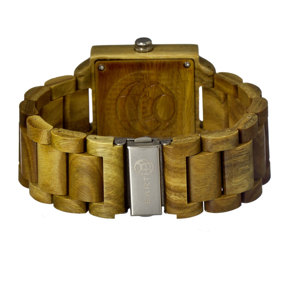 Earth Wood Culm Bracelet Watch w/Date- Olive - Earth Wood Goods - Wood Watches, Wood Sunglasses, Natural Cork Bags