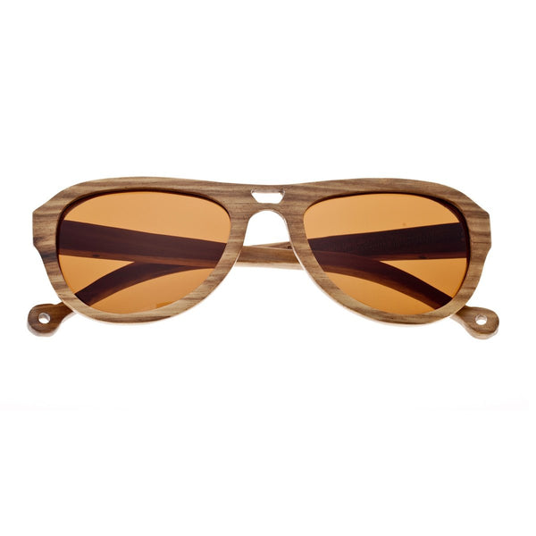 Earth Wood Coronado Sunglasses w/ Polarized Lenses - Brown Zebra/Brown - Earth Wood Goods - Wood Watches, Wood Sunglasses, Natural Cork Bags