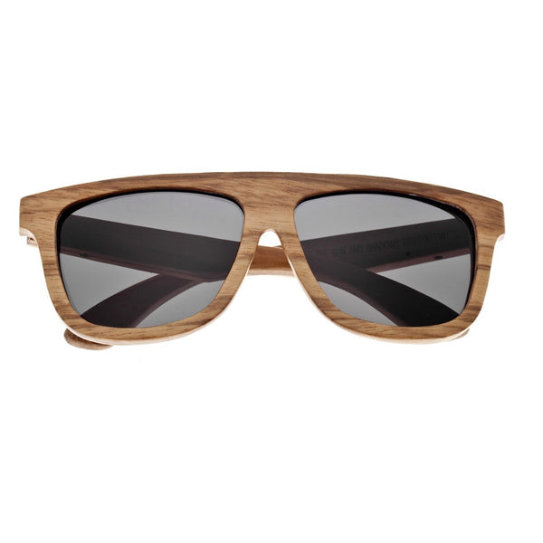 Earth Wood Imperial Sunglasses w/ Polarized Lenses - Brown Zebra/Black - Earth Wood Goods - Wood Watches, Wood Sunglasses, Natural Cork Bags